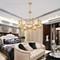 Copper Frame Glass Shade LED Pendant Light American Bedroom Living Room Decor