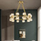 American LED Chandelier Light Glass Cube Shade Copper Sumptuous Home Decor from Singapore best online lighting shop horizon lights