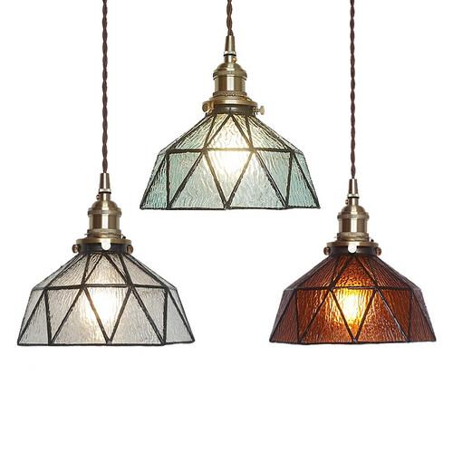 Modern LED Pendant Light Glass Geometric Shape Coppery Light Living Room Decor from Singapore best online lighting shop horizon lights