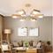Modern Style LED Chandelier Light Wood Rotatable Lampshade Bedroom Living room from Singapore best online lighting shop horizon lights