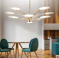 Modern Style LED Chandelier Light OPPLE Aluminum Acrylic Living room Bedroom from Singapore best online lighting shop horizon lights