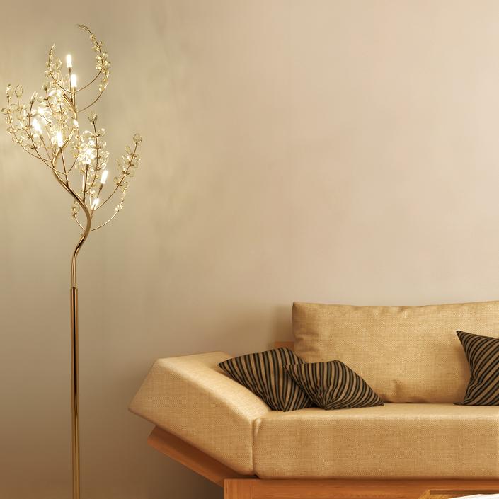 Sophora Tree, crystal floor lamp (SKU 11124)