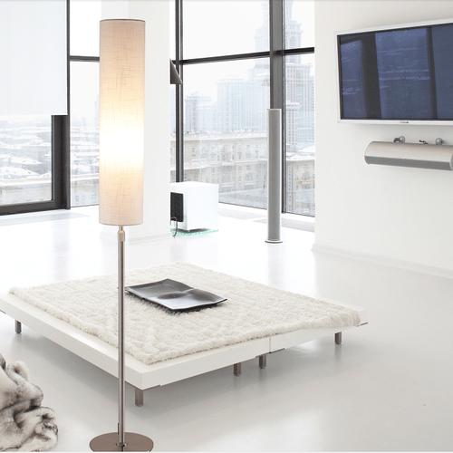 Modern Simple LED Floor Lamp Fabrics Lampshade Adjustable Metal Bedroom Study room from Singapore best online lighting shop horizon lights occasion