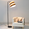 Modern LED Floor Lamp Stripe Fabrics Shade Fashion Bedroom Living room from Singapore best online lighting shop horizon lights