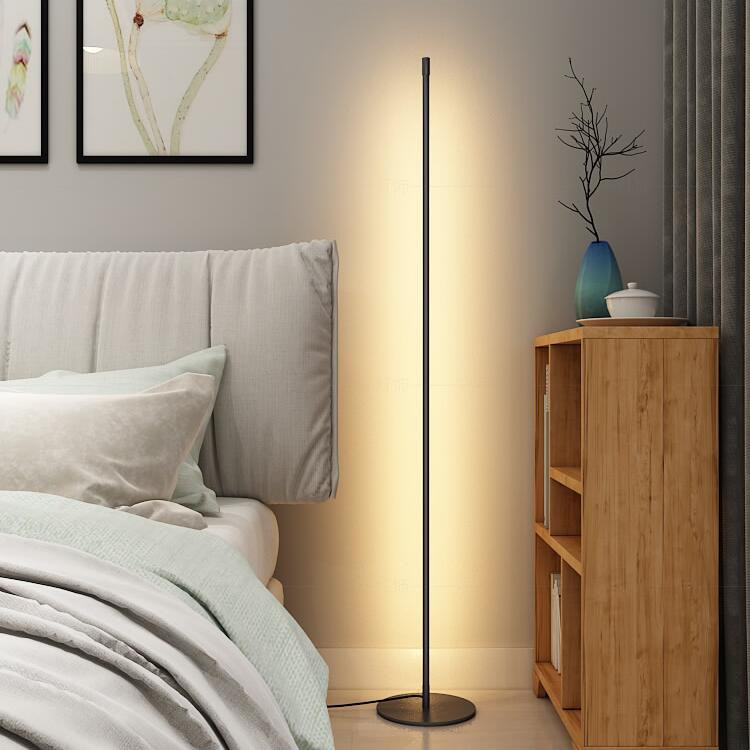 Modern Led Floor Lamp Pole Shape Minimalism Living Room Bedroom Decor Horizon Lights