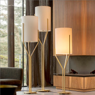 Modern LED Floor Lamp Fabric Lampshade Elegant Bedroom Living room from Singapore best online lighting shop horizon lights