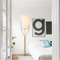 Modern LED Floor Lamp Fabric Lampshade Elegant Bedroom Living room from Singapore best online lighting shop horizon lights