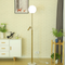 Modern Simple LED Floor Lamp Glass Ball Lampshade Spotlight Decorative Marble Base from Singapore best online lighting shop horizon lights