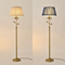 American Country LED Floor Lamp Cloth Shade Copper Bedroom Living Room Decor from Singapore best online lighting shop horizon lights