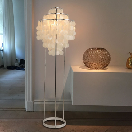 Nordic LED Floor Lamp Shells Shade Metal Frame Bedroom Living Room Decor from Singapore best online lighting shop horizon lights