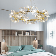 Nordic LED Chandelier Light Crystal Metal Garland Luxurious Home Decor from Singapore best online lighting shop horizon lights image-1