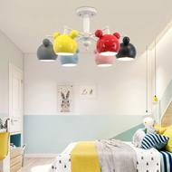 Modern LED Chandelier Light Metal Mickey Shade Ceram Children Bedroom Study Room from Singapore best online lighting shop horizon lights