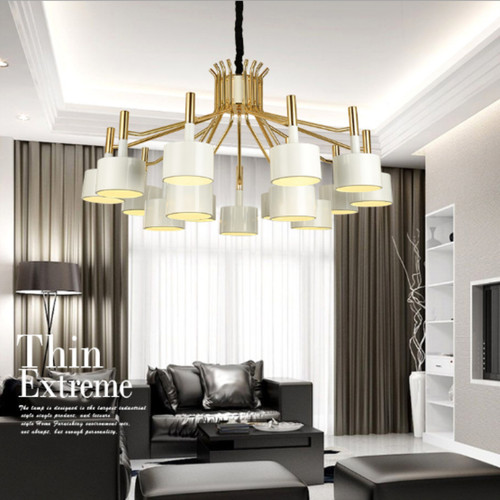 Modern LED Chandelier Light Metal Simple Bedroom Living Room Decor from Singapore best online lighting shop horizon lights