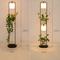 Modern Simple LED Floor Lamp Fabric Lampshade Green Plants Environmental Sofa Living room from Singapore best online lighting shop horizon lights