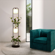 Modern Simple LED Floor Lamp Fabric Lampshade Green Plants Environmental Sofa Living room from Singapore best online lighting shop horizon lights