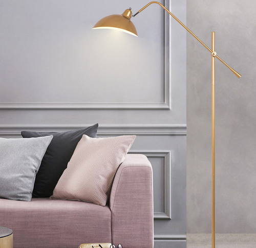 Modern LED Floor Lamp Metal Adjustable Height Marble Base Study Room Bedroom from Singapore best online lighting shop horizon lights
