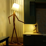 Modern LED Floor Lamp Wood Human Shape Interesting Home Decor from Singapore best online lighting shop horizon lights
