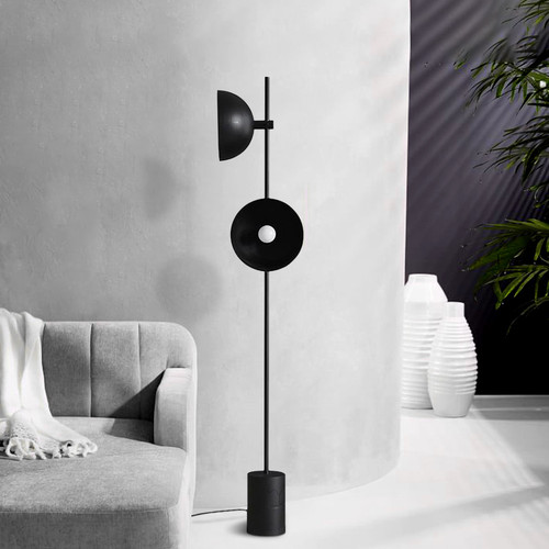 Modern LED Floor Lamp Marble Base Metal 2-Lights Living Room Bedroom from Singapore best online lighting shop horizon lights