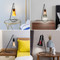Modern LED Table Lamp Multicolor Glass Lampshade Creative Study Room Bedside from Singapore best online lighting shop horizon lights