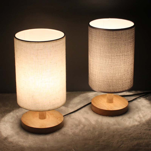 Modern LED Table Lamp 4PCS Fabric Lampshade Warmth Bedroom Bedside Lighting from Singapore best online lighting shop horizon lights