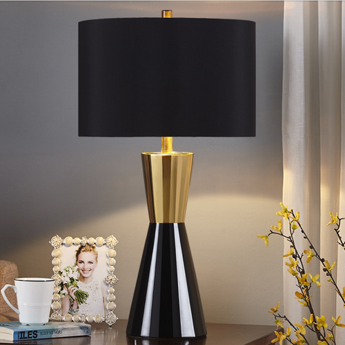 Modern LED Table Lamp Ceram Metal Body Fabric Lampshade Bedroom Bedside Decor from Singapore best online lighting shop horizon lights