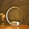 Modern LED Table Lamp Aluminum Ring Marble Base Creative Home Decor from Singapore best online lighting shop horizon lights