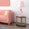 Modern LED Table Lamp Fabric Shade Metal Pink Bowknot Decoration Girls Home from Singapore best online lighting shop horizon lights