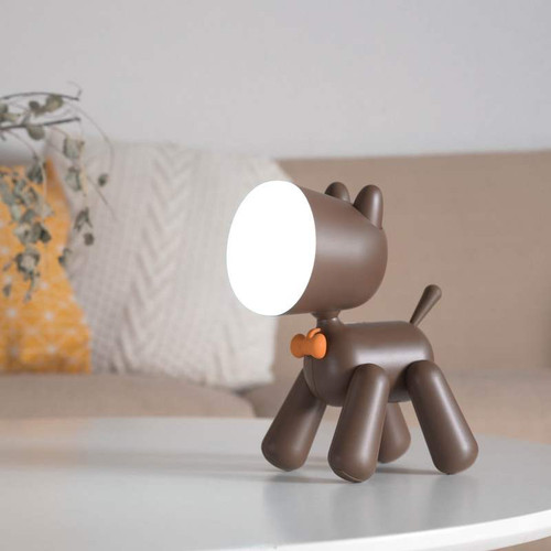 Modern LED Table Lamp PC ABS Puppy Shape Cute Children Bedroom Decor from Singapore best online lighting shop horizon lights