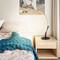 Modern LED Table Lamp Resin Metal Curves Bedroom Study Room Decor from Singapore best online lighting shop horizon lights