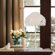 Post-modern LED Table Lamp Hollow Out Acrylic Shade Metal Bedroom Living Room from Singapore best online lighting shop horizon lights