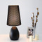 Modern LED Table Lamp Metal Base Cloth Shade Bedside Hotel Living Room from Singapore best online lighting shop horizon lights