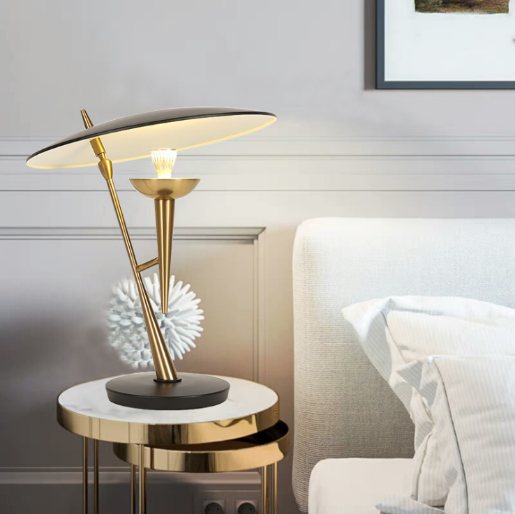 Delightful Upgrades 25 Creative Bedside Lighting Ideas: Modern LED Table Lamp Metal Unique Hotel Bedside Living