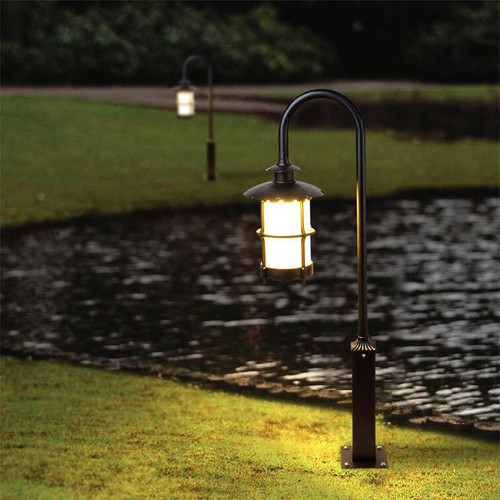 Waterproof LED Garden Lawn Light Glass Lampshade Aluminum Landscape Villa Park from Singapore best online lighting shop horizon lights