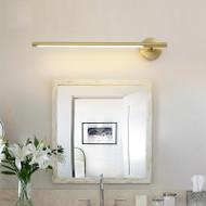 Modern LED Wall Light H65 Copper Acrylic Pole Shape Mirror Bathroom Dresser Decor
