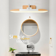 Modern LED Mirror Wall Light Wood Metal Acrylic Simple Bathroom Dresser from Singapore best online lighting shop horizon lights