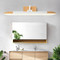 Modern LED wall light installs above the sink, panorama