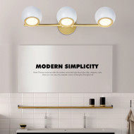 Modern LED Mirror Wall Light Metal Acrylic Ball Shape Bathroom Dresser from Singapore best online lighting shop horizon lights