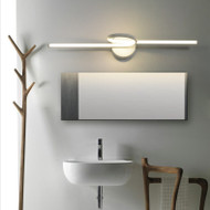 Modern LED Mirror Wall Light Metal Acrylic Linear Creative Bathroom Hallway Decor from Singapore best online lighting shop horizon lights
