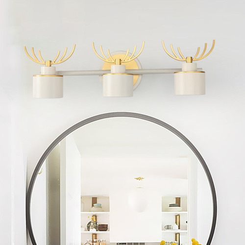 Modern LED Mirror Wall Light Metal Acrylic Antler Shape Bathroom Auxiliary Lighting from Singapore best online lighting shop horizon lights