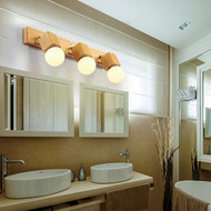 Modern LED Mirror Wall Light Wood Metal Rotatable Simple Bathroom Hotel from Singapore best online lighting shop horizon lights