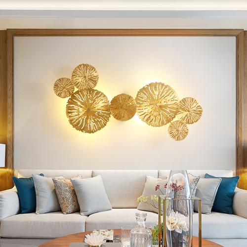 Modern LED Wall Light H65 Copper Lotus Leaves Shape Elegant Living Room Corridor Decor from Singapore best online lighting shop horizon lights