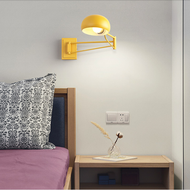 Modern Simple LED Wall Light Metal Adjustable Fold Bright Colors  Bedside Reading Lighting from Singapore best online lighting shop horizon lights
