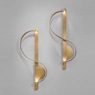 Post-modern LED Wall Light Copper S-Shaped Artistic Corridor Background Decor from Singapore best online lighting shop horizon lights