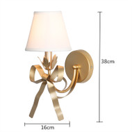Modern LED Wall Light Cloth Lampshade Metal Bowknot Decor Bedroom Living Room from Singapore best online lighting shop horizon lights