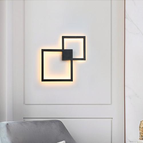 Modern LED Wall Light Aluminum Metal Square Frame Corridor Living Room from Singapore best online lighting shop horizon lights