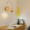 Modern LED Wall Light Wood Metal Adjustable Long Arm Bedside Reading Lighting from Singapore best online lighting shop horizon lights