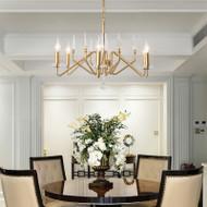 Metal Body Crystal Decor Simple LED Chandelier Light American Living Room Lobby