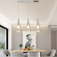 Modern LED Pendant Light Metal Glass Artistic Dining Hall Bar Lighting from Singapore best online lighting shop horizon lights
