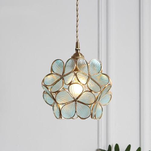 Modern LED Pendant Light Flower Lampshade Glass Copper / Metal Bedroom Dining Room from Singapore best online lighting shop horizon lights