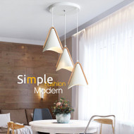 Modern LED Pendant Light Metal Wood Simple Dining Room Cafe Bar from Singapore best online lighting shop horizon lights